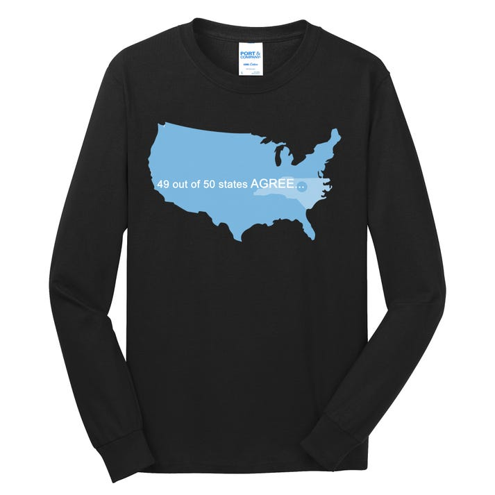 49 Out Of 50 States Agree  Long Sleeve Shirt