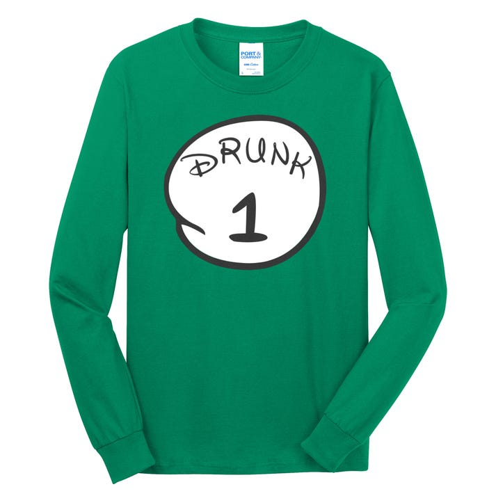 Custom Drunk 1 2 3 4 5 Personalize Long Sleeve Shirt