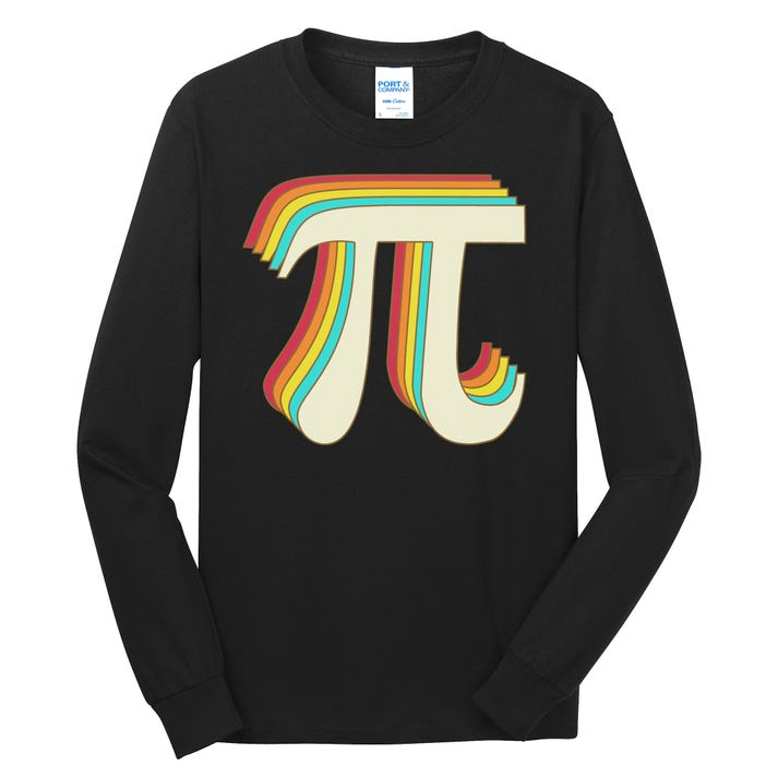 Pi Day Retro Long Sleeve Shirt