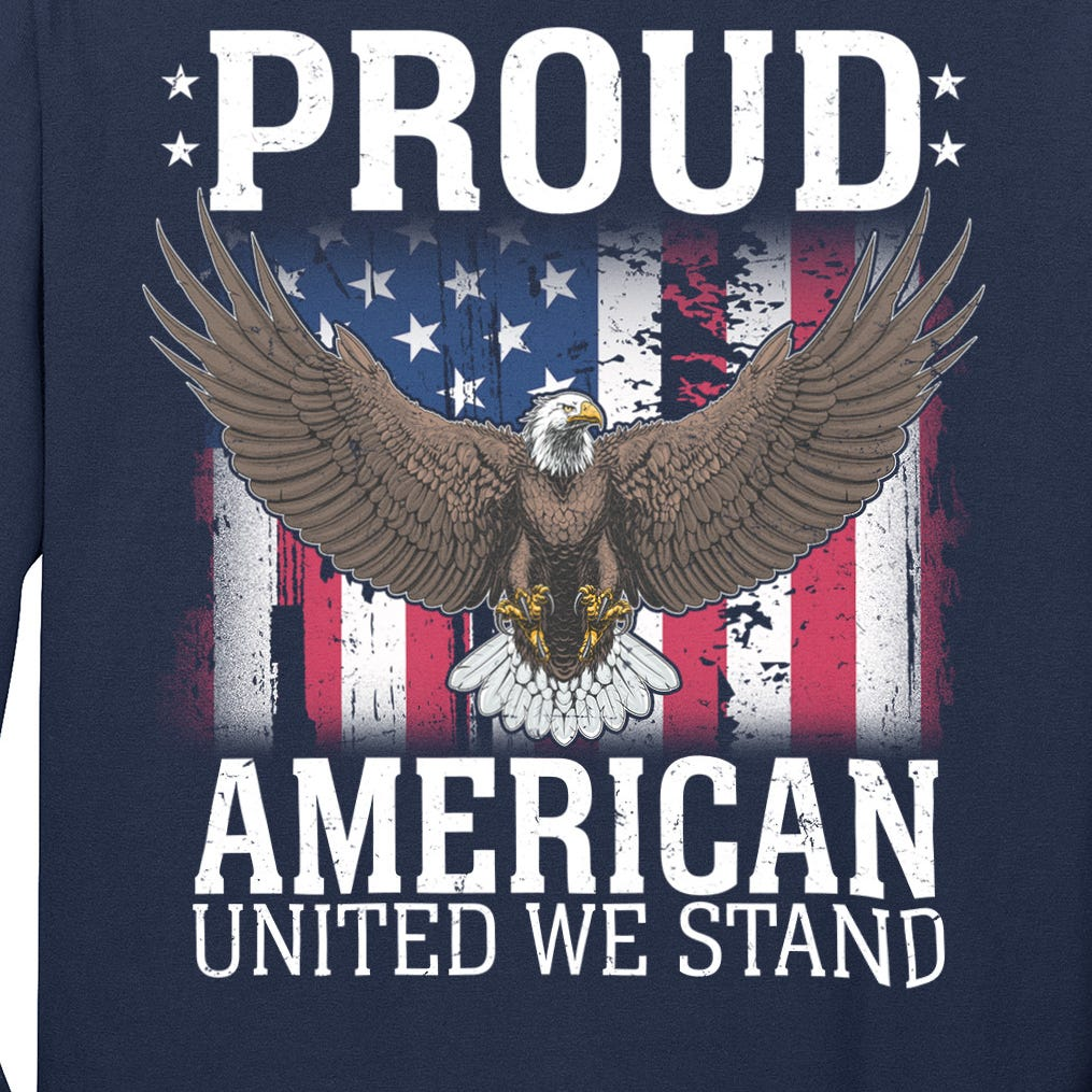 Proud American United We Stand Eagle Long Sleeve Shirt