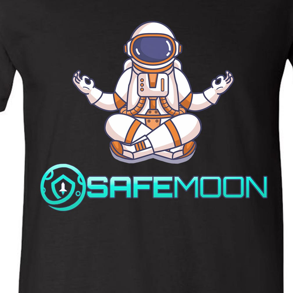Safemoon Cryptocurrency Astronaut Token V-Neck T-Shirt