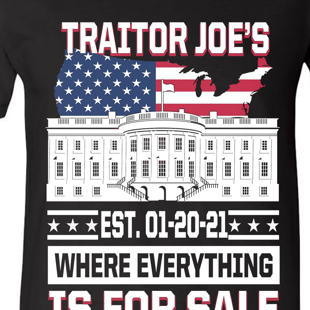 Traitor Joe's Where Everything Is For Sale V-Neck T-Shirt